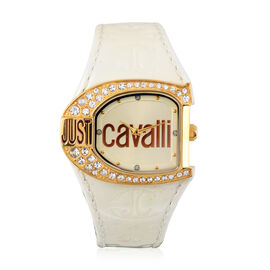 JUST CAVALLI: Poison Swiss Movement Bangle Watch - Serpent Design Water Resistant in Rose Gold Plate