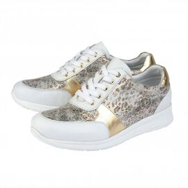 Lotus Stressless Leather Florence Lace-Up Trainers in White Colour
