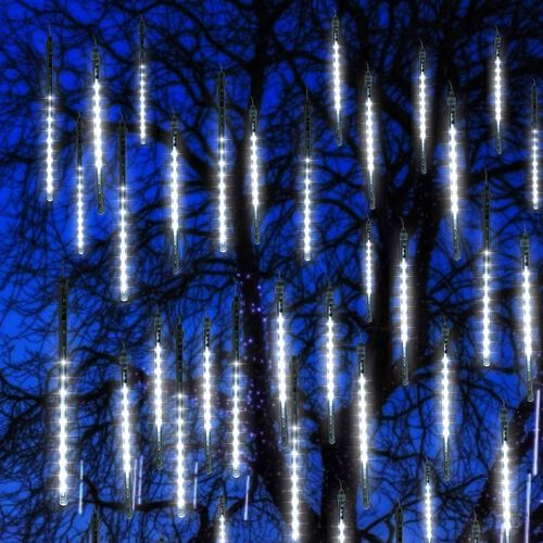 Indoor/Outdoor 12 LED Icicle Battery Operated Timer Lights - White (3C Battery not Included) 1.65m plus