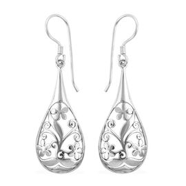 Royal Bali Drop Hook Earrings in Sterling Silver 3.27 Grams