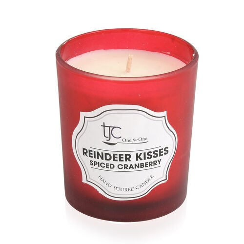 Home Sense Spiced Cranberry Scented Candle in Frosted Glass with Gift Box