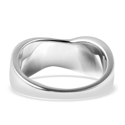 RACHEL GALLEY Sandblast Collection - Rhodium Overlay Sterling Silver Celestial Theme Band Ring