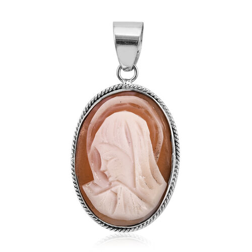 Royal Bali Collection Cameo (Ovl 25x18 mm) Pendant in Sterling Silver 9.260 Ct.