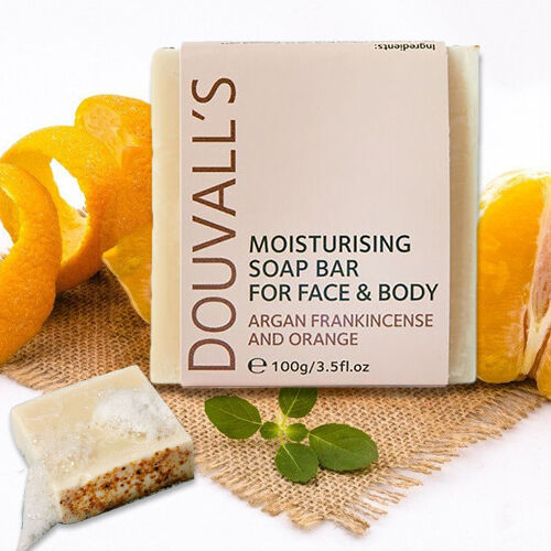 Douvalls Argan, Frankincence & Orange Soap