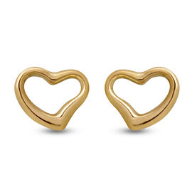 9K Yellow Gold  Earring (With Push Back),  Gold Wt. 0.80 Gms
