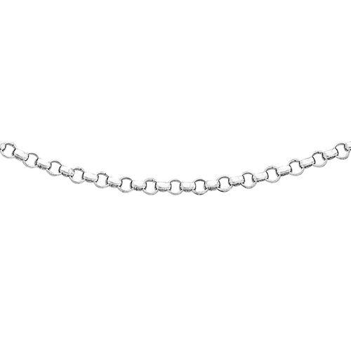 ILIANA 18K White Gold Round Belcher Chain (Size 18)