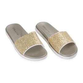 Ladies Sliders Gold Colour