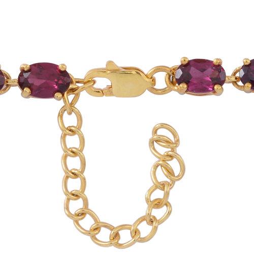 Multi GemStones (Ovl), White Topaz Floral Bracelet (Size 7 with 1 inch Extender) in 14K Gold Overlay Sterling Silver 13.500  Ct.