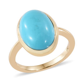 SLEEPING BEAUTY TURQUOISE (4.65 Ct) 9K Y Gold Ring  4.650  Ct.