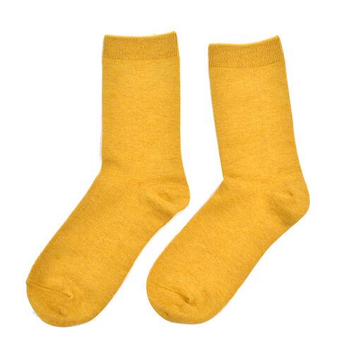 Kris Ana Cashmere Mix Socks One Size (3-8) - Mustard