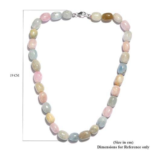 Limited Available- Very Rare Marropino Morganite and Espirito Santo Aquamarine Necklace (Size 20) in Platinum Overlay Sterling Silver 536.50 Ct