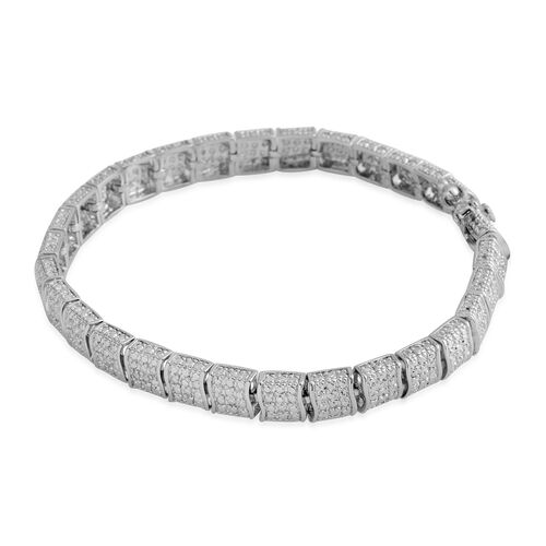 Tucson Close Out Diamond (Rnd) Bracelet (Size 7.25) in Silver Plated