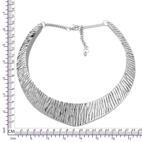 Choker Necklace (Size 43+5 Cm) in Silver Tone