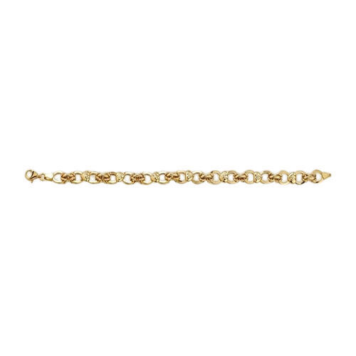 Infinity Heart Link Chain in 9K Gold 20 Inch