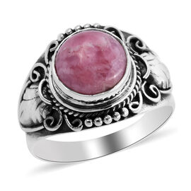 Royal Bali Collection - Rhodochrosite Ring Sterling Silver 4.57 Ct