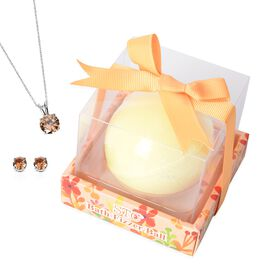 Last Stock - Collect Them All - Surprise Bath Bomb Yellow with Pendant and Earrings Set inside