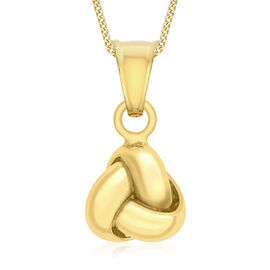 9K Yellow Gold Triple-Knot Pendant