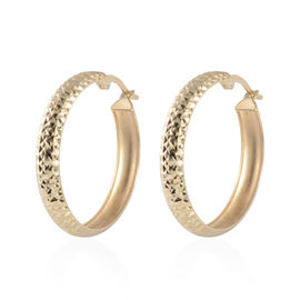 JCK Vegas Hoop Earrings with Clasp in 9K Gold 2.15 Grams