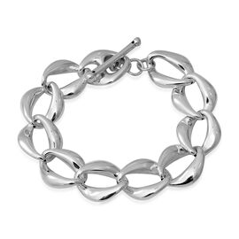 Link Bracelet With Senorita lock in Silver 20.17 Grams 8 Inch