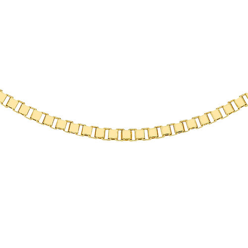 Mega Day Special Close Out Deal- 9K Y Gold Box Necklace (Size 18), Gold wt 4.1 Gms.