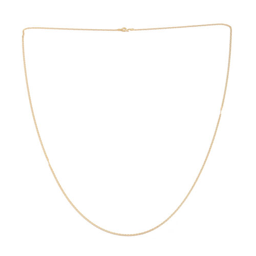 JCK Vegas Collection- Showstopper Deal-  14K Gold Overlay Sterling Silver Mariner Chain (Size 30), Silver wt. 7.20 Gms.