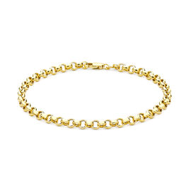 Hollow Belcher Bracelet Size 7 in 9K Yellow Gold, 1.6 Grams