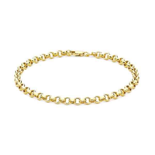 Hollow Belcher Bracelet Size 7 in 9K Yellow Gold, 1.6 Grams