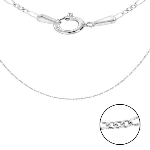 Sterling Silver Figaro Chain (Size 18), Silver wt 3.15 Gms