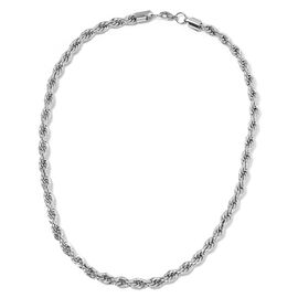 Stainless Steel Rope Necklace (Size 24) with Lobster Lock