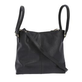 100% Genuine Leather Weave Pattern Designer Handbag with Detachable Shoulder Strap (Size 30x13x28 Cm