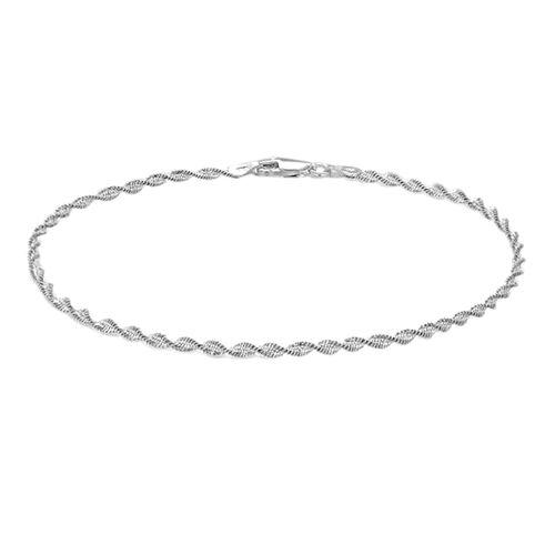 Sterling Silver Twisted Bracelet (Size 7.5)