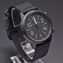 Columbia Outbacker Black 3-Hand Date Black Nylon Watch