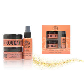 Cougar:24 Carat Rose Gold Set (Incl. 24 Carat Rose Gold Cream - 50ml, Night Cream - 50ml & Facial Serum - 30ml)