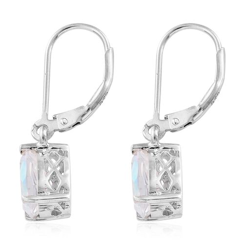Mercury Mystic Topaz (Pear) Lever Back Earrings in Platinum Overlay Sterling Silver 3.000 Ct.