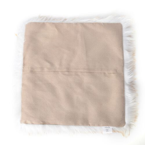 Set of 2 - Faux Sheep Skin Cushion Cover (Size 45x45 Cm)