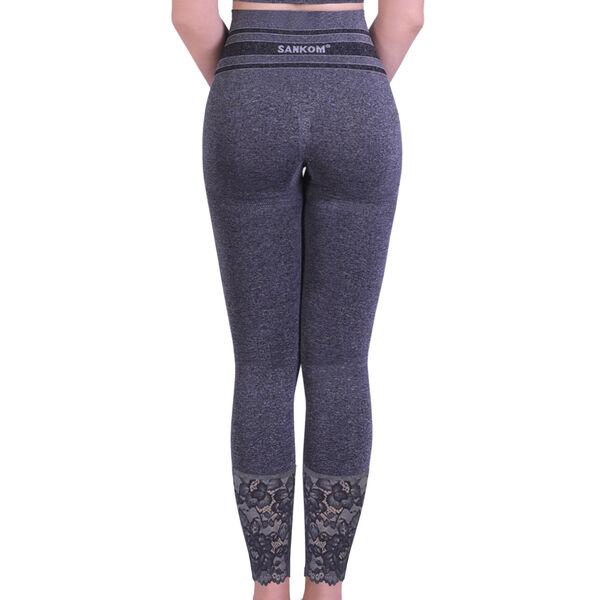 SANKOM SWITZERLAND Patent Shaper leggings with Lace - Grey (Size M-L, 12-18)