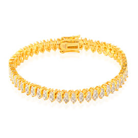 Tucson Close Out Diamond (Rnd) Bracelet (Size 7.25) in Gold Plated
