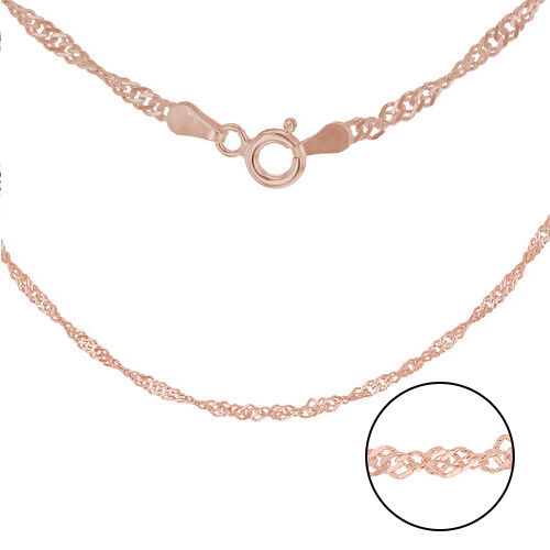 Rose Gold Overlay Sterling Silver Chain (Size 20)