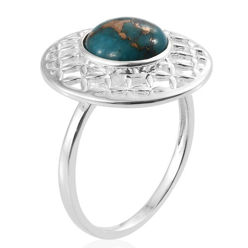 Mojave Blue Turquoise (Rnd) Ring in Sterling Silver 3.500 Ct.