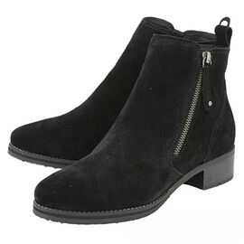 Lotus Stressless Black Suede Samara Ankle Boots