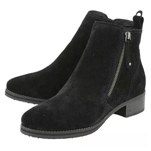 Lotus Stressless Black Suede Samara Ankle Boots (Size 3)