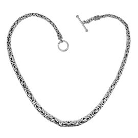 Last Chance Royal Bali Collection - Sterling Silver Borobudur Necklace with Toggle Lock Size 18, Sil
