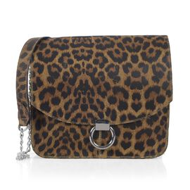 Limited Collection Super Chic Leopard 100% Genuine Leather Handbag (Size 25x25 Cm)