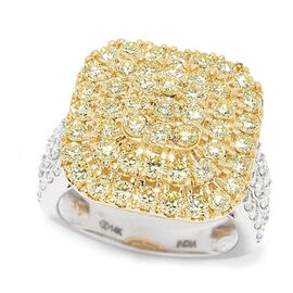 NY Close Out Deal - 14K Yellow Gold Natural Yellow (SI 2.25 Cts) and White Diamond (I1 G-H 0.75 Cts)