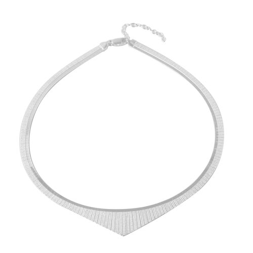 Rhodium Overlay Sterling Silver Cleopatra Necklace (Size 17 with 2 inch Extender), Silver wt 25.70 G
