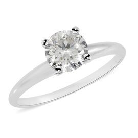 NY Close Out 14K White Gold IGL Certified Diamond (Rnd) (I1-I2/G-H) Ring 1.000 Ct.