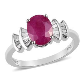 RHAPSODY 950 Platinum AAAA Burmese Ruby and Diamond (VS/E-F) Ring 2.00 Ct.