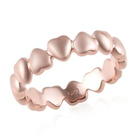 Rose Gold Overlay Sterling Silver Heart Ring