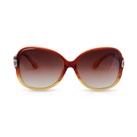 Designer Inspired Sunglasses for Women - Brwon and Yellow