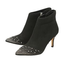 Ravel Black Diamante Renwick Heeled Ankle Boots